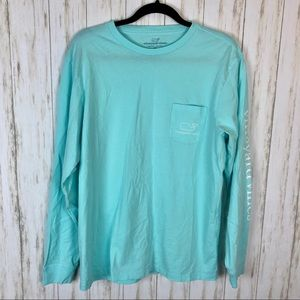 Vineyard vines teal long sleeve tee